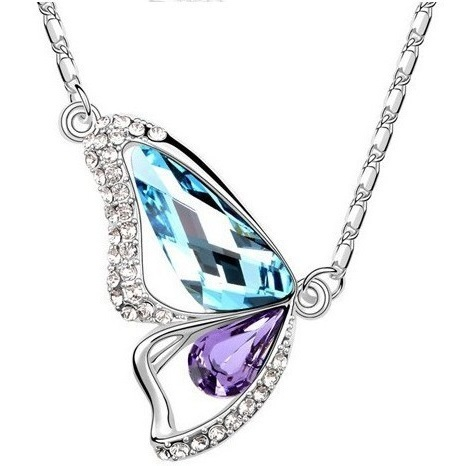 najlacnejšia bižutéria - náhrdelník - lacná bižutéria - bižutéria náušnice - bižutéria náhrdelníky - lacna bizuteria - swarovski sety - swarovsi náhrdelník - najlacnejšia bižutéria - swarovski set - doplnky na stužkovú - šperky sety - šperky z chirurgickej ocele - bižutéria sety - bižutéria náhrdelníky - darček na stužkovú - šperky na stužkovú - set náhrdelník náušnice - Náhrdelník Motýľ - Multi KP516