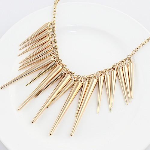 najlacnejšia bižutéria - náhrdelník - lacná bižutéria - bižutéria náušnice - bižutéria náhrdelníky - lacna bizuteria - swarovski sety - swarovsi náhrdelník - najlacnejšia bižutéria - swarovski set - doplnky na stužkovú - šperky sety - šperky z chirurgickej ocele - bižutéria sety - bižutéria náhrdelníky - darček na stužkovú - šperky na stužkovú - set náhrdelník náušnice - Náhrdelník SPIKE-Zlatá KP426