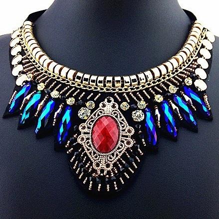 najlacnejšia bižutéria - náhrdelník - lacná bižutéria - bižutéria náušnice - bižutéria náhrdelníky - lacna bizuteria - swarovski sety - swarovsi náhrdelník - najlacnejšia bižutéria - swarovski set - doplnky na stužkovú - šperky sety - šperky z chirurgickej ocele - bižutéria sety - bižutéria náhrdelníky - darček na stužkovú - šperky na stužkovú - set náhrdelník náušnice - Náhrdelník Fabric-Multi KP487