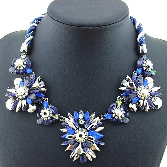 najlacnejšia bižutéria - náhrdelník - lacná bižutéria - bižutéria náušnice - bižutéria náhrdelníky - lacna bizuteria - swarovski sety - swarovsi náhrdelník - najlacnejšia bižutéria - swarovski set - doplnky na stužkovú - šperky sety - šperky z chirurgickej ocele - bižutéria sety - bižutéria náhrdelníky - darček na stužkovú - šperky na stužkovú - set náhrdelník náušnice - Náhrdelník Acorn - Modrá KP1025