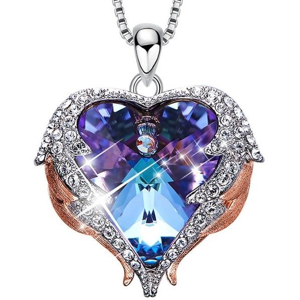 najlacnejšia bižutéria - náhrdelník - lacná bižutéria - bižutéria náušnice - bižutéria náhrdelníky - lacna bizuteria - swarovski sety - swarovsi náhrdelník - najlacnejšia bižutéria - swarovski set - doplnky na stužkovú - šperky sety - šperky z chirurgickej ocele - bižutéria sety - bižutéria náhrdelníky - darček na stužkovú - šperky na stužkovú - set náhrdelník náušnice - Náhrdelník Angel Wings EXCLUSIVE-Str./FialováAB KP5021