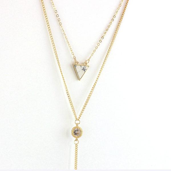 najlacnejšia bižutéria - náhrdelník - lacná bižutéria - bižutéria náušnice - bižutéria náhrdelníky - lacna bizuteria - swarovski sety - swarovsi náhrdelník - najlacnejšia bižutéria - swarovski set - doplnky na stužkovú - šperky sety - šperky z chirurgickej ocele - bižutéria sety - bižutéria náhrdelníky - darček na stužkovú - šperky na stužkovú - set náhrdelník náušnice - Náhrdelník Illumitane - Zlatá KP1907