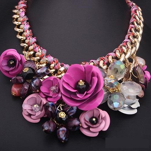 najlacnejšia bižutéria - náhrdelník - lacná bižutéria - bižutéria náušnice - bižutéria náhrdelníky - lacna bizuteria - swarovski sety - swarovsi náhrdelník - najlacnejšia bižutéria - swarovski set - doplnky na stužkovú - šperky sety - šperky z chirurgickej ocele - bižutéria sety - bižutéria náhrdelníky - darček na stužkovú - šperky na stužkovú - set náhrdelník náušnice - Náhrdelník Rose Rosette - Ružová  KP668