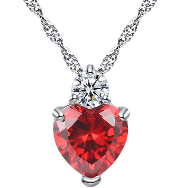 najlacnejšia bižutéria - náhrdelník - lacná bižutéria - bižutéria náušnice - bižutéria náhrdelníky - lacna bizuteria - swarovski sety - swarovsi náhrdelník - najlacnejšia bižutéria - swarovski set - doplnky na stužkovú - šperky sety - šperky z chirurgickej ocele - bižutéria sety - bižutéria náhrdelníky - darček na stužkovú - šperky na stužkovú - set náhrdelník náušnice - Náhrdelník Srdce-Str./Červená KP4813