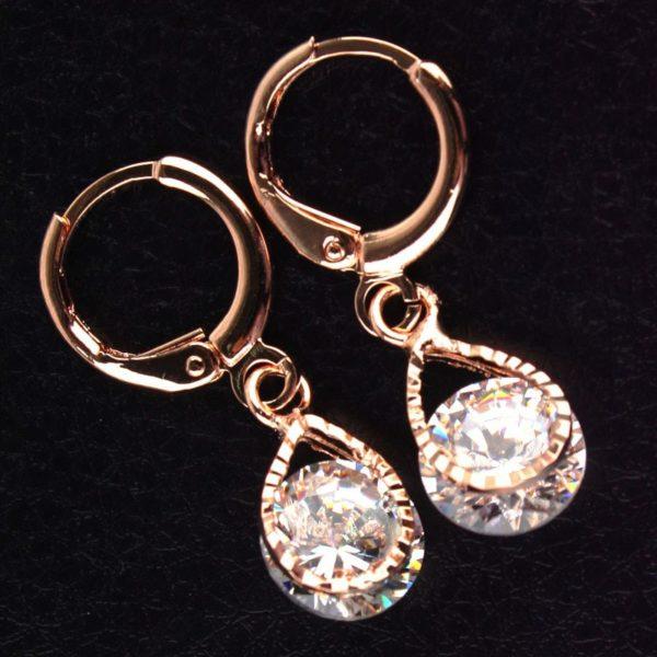 lacna bizuteria - najlacnejšia bižutéria - doplnky na stužkovú - šperky sety - šperky z chirurgickej ocele - darček na stužkovú - šperky na stužkovú - Náušnice Stone - Kryštálová KP483