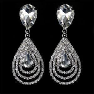 lacna bizuteria - najlacnejšia bižutéria - doplnky na stužkovú - šperky sety - šperky z chirurgickej ocele - darček na stužkovú - šperky na stužkovú - Náušnice Christina - Kryštálová KP640
