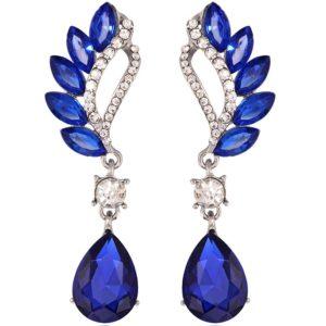 lacna bizuteria - najlacnejšia bižutéria - doplnky na stužkovú - šperky sety - šperky z chirurgickej ocele - darček na stužkovú - šperky na stužkovú - Náušnice Beautiful - Modrá KP1852