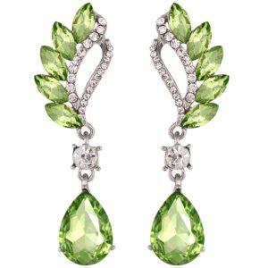 lacna bizuteria - najlacnejšia bižutéria - doplnky na stužkovú - šperky sety - šperky z chirurgickej ocele - darček na stužkovú - šperky na stužkovú - Náušnice Beautiful - Zelená KP1853