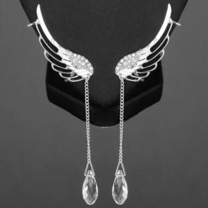 lacna bizuteria - najlacnejšia bižutéria - doplnky na stužkovú - šperky sety - šperky z chirurgickej ocele - darček na stužkovú - šperky na stužkovú - Náušnice Crystal Angel - Strieborná KP1698