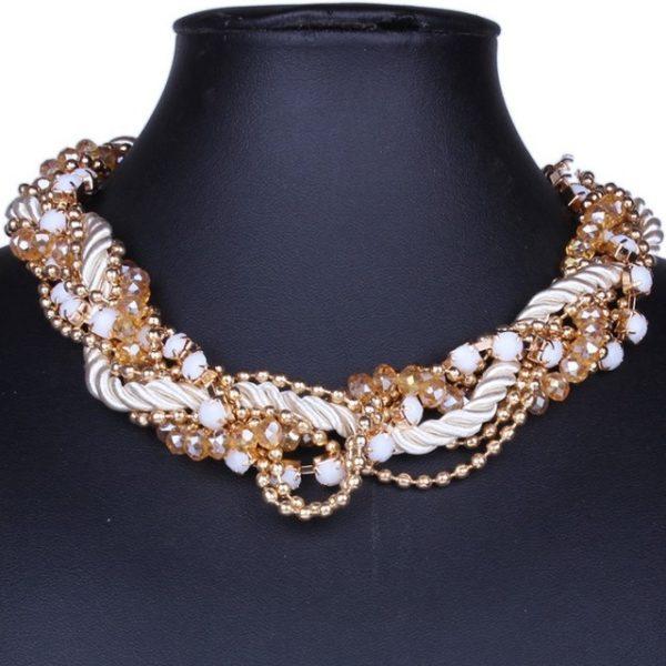 najlacnejšia bižutéria - náhrdelník - lacná bižutéria - bižutéria náušnice - bižutéria náhrdelníky - lacna bizuteria - swarovski sety - swarovsi náhrdelník - najlacnejšia bižutéria - swarovski set - doplnky na stužkovú - šperky sety - šperky z chirurgickej ocele - bižutéria sety - bižutéria náhrdelníky - darček na stužkovú - šperky na stužkovú - set náhrdelník náušnice - Náhrdelník Pearl Maxi - Biela KP1255