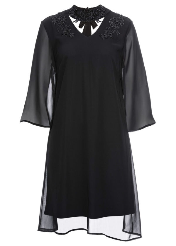 Šaty s čipkou a aplikáciami bonprix - šaty na stužkovú s čipkou - saty na stuzkovu - spoločenské šaty na stužkovú - šaty na stužkovú s dlhým rukávom - plesové šaty na stužkovú - princeznovské šaty na stužkovú - tylové šaty na stužkovú - dlhé šaty na stužkovú - večerné šaty na stužkovú - čipkované šaty na stužkovú - čipkové šaty na stužkovú