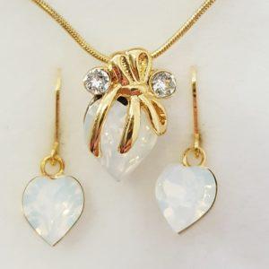 najlacnejšia bižutéria - náhrdelník - lacná bižutéria - bižutéria náušnice - bižutéria náhrdelníky - lacna bizuteria - swarovski sety - swarovsi náhrdelník - najlacnejšia bižutéria - swarovski set - doplnky na stužkovú - šperky sety - šperky z chirurgickej ocele - bižutéria sety - bižutéria náhrdelníky - darček na stužkovú - šperky na stužkovú - set náhrdelník náušnice - Set Lucy SWAROVSKI-Zlatá KP3946