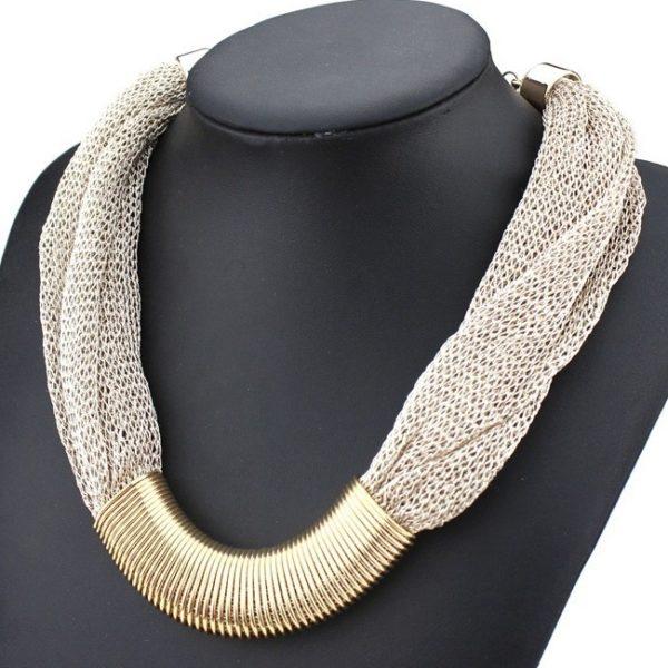 najlacnejšia bižutéria - náhrdelník - lacná bižutéria - bižutéria náušnice - bižutéria náhrdelníky - lacna bizuteria - swarovski sety - swarovsi náhrdelník - najlacnejšia bižutéria - swarovski set - doplnky na stužkovú - šperky sety - šperky z chirurgickej ocele - bižutéria sety - bižutéria náhrdelníky - darček na stužkovú - šperky na stužkovú - set náhrdelník náušnice - Náhrdelník Singapore Chain - Sivá/zlatá KP806