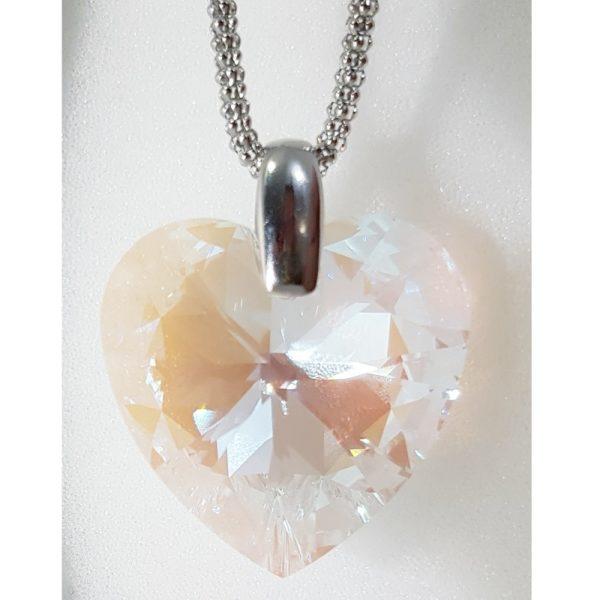najlacnejšia bižutéria - náhrdelník - lacná bižutéria - bižutéria náušnice - bižutéria náhrdelníky - lacna bizuteria - swarovski sety - swarovsi náhrdelník - najlacnejšia bižutéria - swarovski set - doplnky na stužkovú - šperky sety - šperky z chirurgickej ocele - bižutéria sety - bižutéria náhrdelníky - darček na stužkovú - šperky na stužkovú - set náhrdelník náušnice - Náhrdelník Srdce SWAROVSKI-Kryštálová KP3931