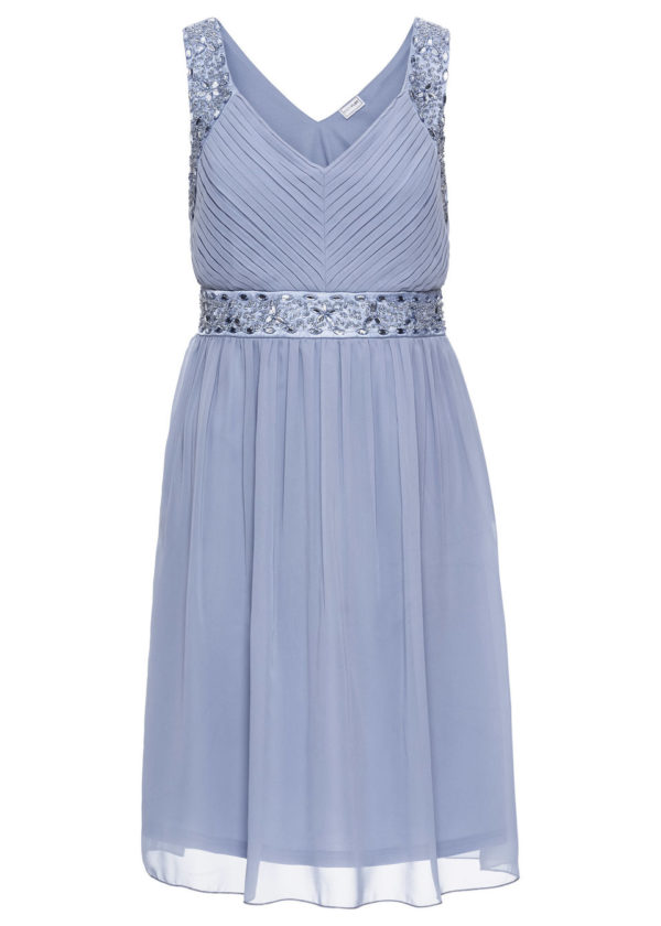 Večerné šaty bonprix - šaty na stužkovú  kráľovská modrá - saty na stuzkovu - spoločenské šaty na stužkovú - šaty na stužkovú s dlhým rukávom - plesové šaty na stužkovú - princeznovské šaty na stužkovú - tylové šaty na stužkovú - dlhé šaty na stužkovú