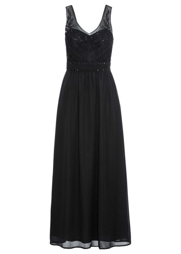 Večerné šaty s aplikáciou bonprix - šaty na stužkovú - saty na stuzkovu - spoločenské šaty na stužkovú - šaty na stužkovú s dlhým rukávom - plesové šaty na stužkovú - princeznovské šaty na stužkovú - tylové šaty na stužkovú - dlhé šaty na stužkovú - večerné šaty na stužkovú