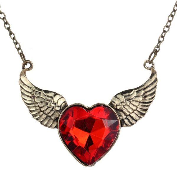 najlacnejšia bižutéria - náhrdelník - lacná bižutéria - bižutéria náušnice - bižutéria náhrdelníky - lacna bizuteria - swarovski sety - swarovsi náhrdelník - najlacnejšia bižutéria - swarovski set - doplnky na stužkovú - šperky sety - šperky z chirurgickej ocele - bižutéria sety - bižutéria náhrdelníky - darček na stužkovú - šperky na stužkovú - set náhrdelník náušnice - Náhrdelník Heart Wings KP551