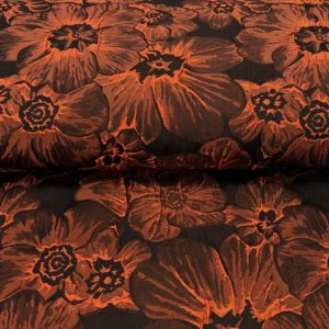 Žakár orange - Predaj látok - látky na šitie - látky na spoločenské šaty - spoločenské látky - látky na plesové šaty - luxusné látky na šaty -  kostýmovka - kostýmovky - žakár - žakárová látka - žakárové látky metráž