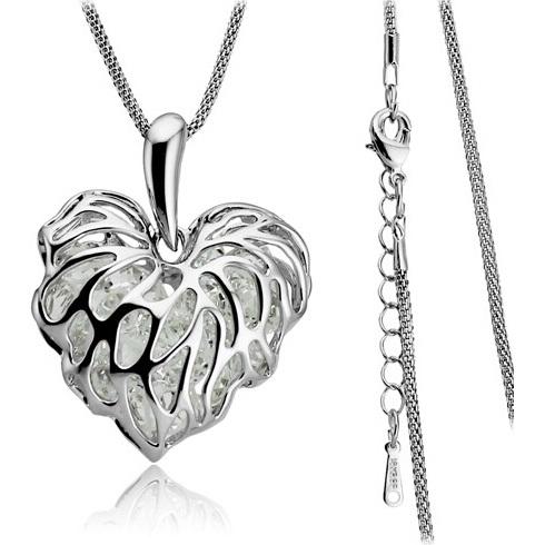 najlacnejšia bižutéria - náhrdelník - lacná bižutéria - bižutéria náušnice - bižutéria náhrdelníky - lacna bizuteria - swarovski sety - swarovsi náhrdelník - najlacnejšia bižutéria - swarovski set - doplnky na stužkovú - šperky sety - šperky z chirurgickej ocele - bižutéria sety - bižutéria náhrdelníky - darček na stužkovú - šperky na stužkovú - set náhrdelník náušnice - Náhrdelník Zirkon Heart - Strieborná KP989