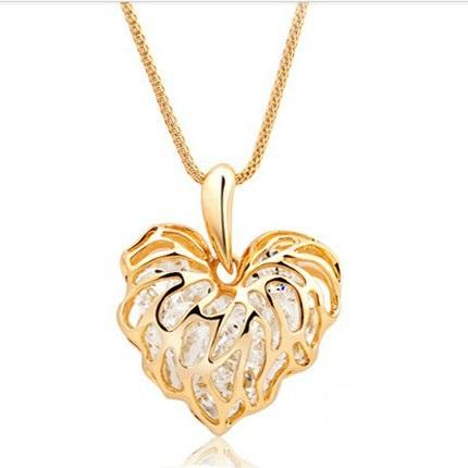 najlacnejšia bižutéria - náhrdelník - lacná bižutéria - bižutéria náušnice - bižutéria náhrdelníky - lacna bizuteria - swarovski sety - swarovsi náhrdelník - najlacnejšia bižutéria - swarovski set - doplnky na stužkovú - šperky sety - šperky z chirurgickej ocele - bižutéria sety - bižutéria náhrdelníky - darček na stužkovú - šperky na stužkovú - set náhrdelník náušnice - Náhrdelník Zirkon Heart - Zlatá KP552