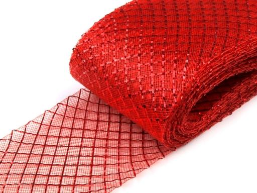 Modistická krinolína na vystuženie šiat a výrobu fascinátorov   šírka 7 cm s lurexom - doplnky do vlasov - fascinátor - extravagantné doplnky k spoločenským šatám - čelenka do vlasov - doplnky na stužkovú - šaty na stužkovú mama