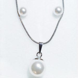 najlacnejšia bižutéria - náhrdelník - lacná bižutéria - bižutéria náušnice - bižutéria náhrdelníky - lacna bizuteria - swarovski sety - swarovsi náhrdelník - najlacnejšia bižutéria - swarovski set - doplnky na stužkovú - šperky sety - šperky z chirurgickej ocele - bižutéria sety - bižutéria náhrdelníky - darček na stužkovú - šperky na stužkovú - set náhrdelník náušnice - Set Alina SWAROVSKI-Str./Biela KP5349
