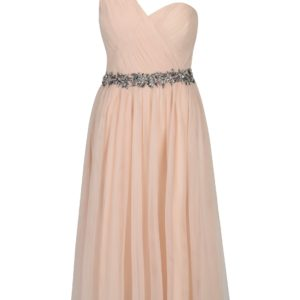 Svetloružové asymetrické midišaty Little Mistress - Šaty na stužkovú ružové - saty na stuzkovu - spoločenské šaty na stužkovú - šaty na stužkovú s dlhým rukávom - plesové šaty na stužkovú - princeznovské šaty na stužkovú - tylové šaty na stužkovú - dlhé šaty na stužkovú