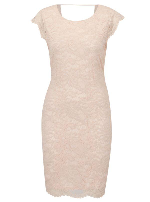 Staroružové čipkované šaty VERO MODA Sandra - Šaty na stužkovú ružové - saty na stuzkovu - spoločenské šaty na stužkovú - šaty na stužkovú s dlhým rukávom - plesové šaty na stužkovú - princeznovské šaty na stužkovú - tylové šaty na stužkovú - dlhé šaty na stužkovú