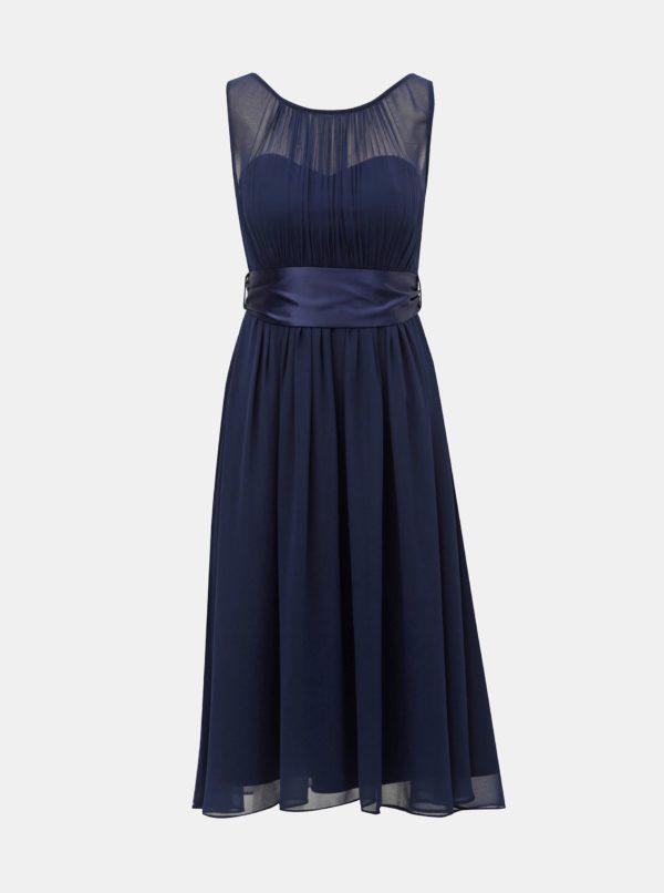 Tmavomodré šaty Dorothy Perkins - šaty na stužkovú  kráľovská modrá - saty na stuzkovu - spoločenské šaty na stužkovú - šaty na stužkovú s dlhým rukávom - plesové šaty na stužkovú - princeznovské šaty na stužkovú - tylové šaty na stužkovú - dlhé šaty na stužkovú