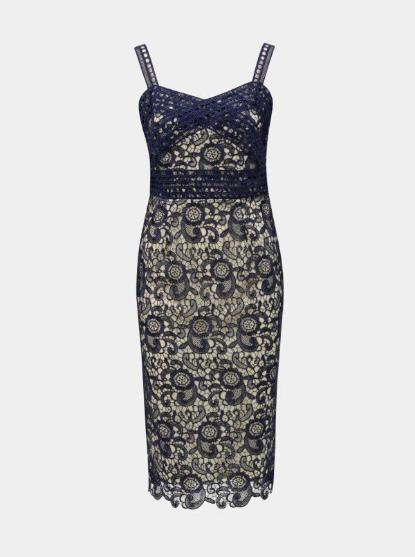 Tmavomodré čipkované puzdrové šaty Paper Dolls - šaty na stužkovú  kráľovská modrá - saty na stuzkovu - spoločenské šaty na stužkovú - šaty na stužkovú s dlhým rukávom - plesové šaty na stužkovú - princeznovské šaty na stužkovú - tylové šaty na stužkovú - dlhé šaty na stužkovú