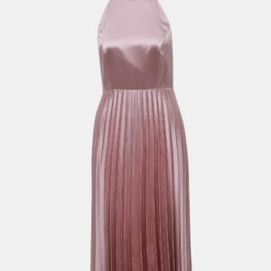 Rúžové šaty s plisovanou sukňou Dorothy Perkins - Šaty na stužkovú ružové - saty na stuzkovu - spoločenské šaty na stužkovú - šaty na stužkovú s dlhým rukávom - plesové šaty na stužkovú - princeznovské šaty na stužkovú - tylové šaty na stužkovú - dlhé šaty na stužkovú