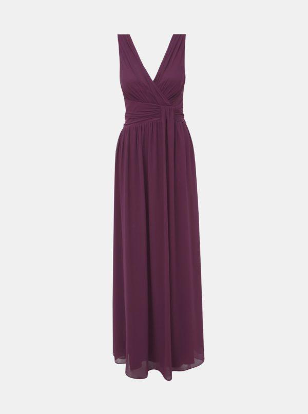 Fialové maxišaty Dorothy Perkins - šaty na stužkovú - saty na stuzkovu - spoločenské šaty na stužkovú - šaty na stužkovú s dlhým rukávom - plesové šaty na stužkovú - princeznovské šaty na stužkovú - tylové šaty na stužkovú - dlhé šaty na stužkovú