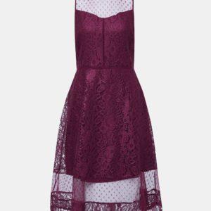 Vínové krajkové šaty Dorothy Perkins - Šaty na stužkovú vínová bordová - saty na stuzkovu - spoločenské šaty na stužkovú - šaty na stužkovú s dlhým rukávom - plesové šaty na stužkovú - princeznovské šaty na stužkovú - tylové šaty na stužkovú - dlhé šaty na stužkovú