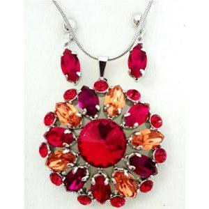 najlacnejšia bižutéria - náhrdelník - lacná bižutéria - bižutéria náušnice - bižutéria náhrdelníky - lacna bizuteria - swarovski sety - swarovsi náhrdelník - najlacnejšia bižutéria - swarovski set - doplnky na stužkovú - šperky sety - šperky z chirurgickej ocele - bižutéria sety - bižutéria náhrdelníky - darček na stužkovú - šperky na stužkovú - set náhrdelník náušnice - Set Blume SWAROVSKI-Červená KP4736