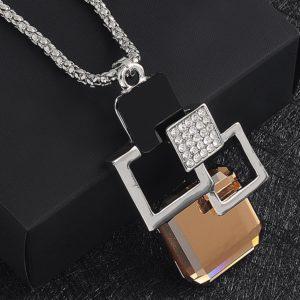 najlacnejšia bižutéria - náhrdelník - lacná bižutéria - bižutéria náušnice - bižutéria náhrdelníky - lacna bizuteria - swarovski sety - swarovsi náhrdelník - najlacnejšia bižutéria - swarovski set - doplnky na stužkovú - šperky sety - šperky z chirurgickej ocele - bižutéria sety - bižutéria náhrdelníky - darček na stužkovú - šperky na stužkovú - set náhrdelník náušnice - Náhrdelník Aurelia-Strieborná KP3601