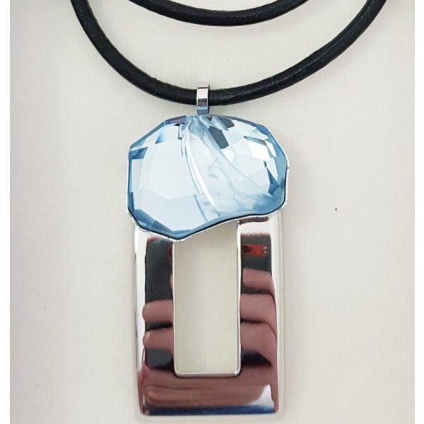 najlacnejšia bižutéria - náhrdelník - lacná bižutéria - bižutéria náušnice - bižutéria náhrdelníky - lacna bizuteria - swarovski sety - swarovsi náhrdelník - najlacnejšia bižutéria - swarovski set - doplnky na stužkovú - šperky sety - šperky z chirurgickej ocele - bižutéria sety - bižutéria náhrdelníky - darček na stužkovú - šperky na stužkovú - set náhrdelník náušnice - Náhrdelník Albina SWAROVSKI-Sl.Modrá KP4715