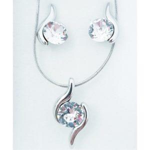 najlacnejšia bižutéria - náhrdelník - lacná bižutéria - bižutéria náušnice - bižutéria náhrdelníky - lacna bizuteria - swarovski sety - swarovsi náhrdelník - najlacnejšia bižutéria - swarovski set - doplnky na stužkovú - šperky sety - šperky z chirurgickej ocele - bižutéria sety - bižutéria náhrdelníky - darček na stužkovú - šperky na stužkovú - set náhrdelník náušnice - Set Beata SWAROVSKI-Strieborná KP4742