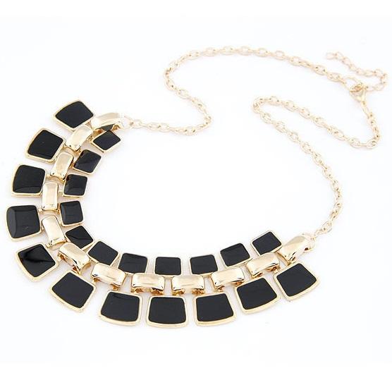 najlacnejšia bižutéria - náhrdelník - lacná bižutéria - bižutéria náušnice - bižutéria náhrdelníky - lacna bizuteria - swarovski sety - swarovsi náhrdelník - najlacnejšia bižutéria - swarovski set - doplnky na stužkovú - šperky sety - šperky z chirurgickej ocele - bižutéria sety - bižutéria náhrdelníky - darček na stužkovú - šperky na stužkovú - set náhrdelník náušnice - Náhrdelník Bohemia Charm - Čierna KP695
