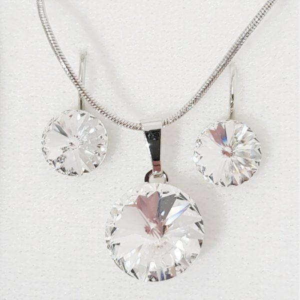 najlacnejšia bižutéria - náhrdelník - lacná bižutéria - bižutéria náušnice - bižutéria náhrdelníky - lacna bizuteria - swarovski sety - swarovsi náhrdelník - najlacnejšia bižutéria - swarovski set - doplnky na stužkovú - šperky sety - šperky z chirurgickej ocele - bižutéria sety - bižutéria náhrdelníky - darček na stužkovú - šperky na stužkovú - set náhrdelník náušnice - Set Circles SWAROVSKI-Str./Kryštálová KP4411