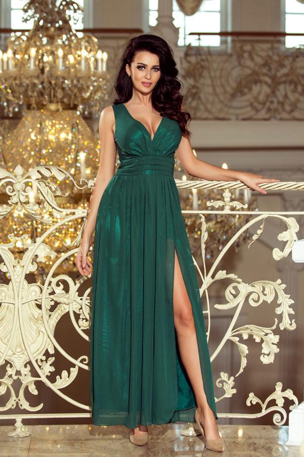 Dámske šaty 166-5 - šaty na stužkovú - saty na stuzkovu - spoločenské šaty na stužkovú - šaty na stužkovú s dlhým rukávom - plesové šaty na stužkovú - princeznovské šaty na stužkovú - tylové šaty na stužkovú - dlhé šaty na stužkovú - maxi šaty na stužkovú