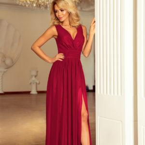 Dámske šaty 166-6 - šaty na stužkovú - saty na stuzkovu - spoločenské šaty na stužkovú - šaty na stužkovú s dlhým rukávom - plesové šaty na stužkovú - princeznovské šaty na stužkovú - tylové šaty na stužkovú - dlhé šaty na stužkovú - maxi šaty na stužkovú