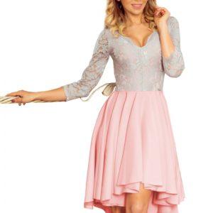 Dámske šaty 210-5 - šaty na stužkovú - saty na stuzkovu - spoločenské šaty na stužkovú - šaty na stužkovú s dlhým rukávom - plesové šaty na stužkovú - princeznovské šaty na stužkovú - tylové šaty na stužkovú - dlhé šaty na stužkovú - maxi šaty na stužkovú - šaty na stužkovú s rukávmi - spoločenské šaty s rukávmi