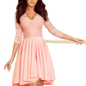 Dámske šaty 210-7 - šaty na stužkovú - saty na stuzkovu - spoločenské šaty na stužkovú - šaty na stužkovú s dlhým rukávom - plesové šaty na stužkovú - princeznovské šaty na stužkovú - tylové šaty na stužkovú - dlhé šaty na stužkovú - maxi šaty na stužkovú - šaty na stužkovú s rukávmi - spoločenské šaty s rukávmi