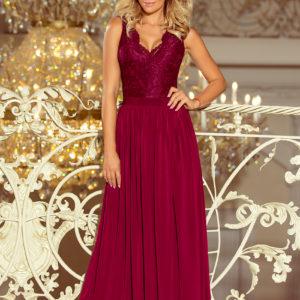 Dámske šaty 211-2 - šaty na stužkovú - saty na stuzkovu - spoločenské šaty na stužkovú - šaty na stužkovú s dlhým rukávom - plesové šaty na stužkovú - princeznovské šaty na stužkovú - tylové šaty na stužkovú - dlhé šaty na stužkovú - maxi šaty na stužkovú