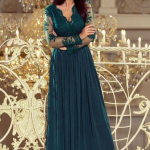 Dámske šaty 213-1 - šaty na stužkovú - saty na stuzkovu - spoločenské šaty na stužkovú - šaty na stužkovú s dlhým rukávom - plesové šaty na stužkovú - princeznovské šaty na stužkovú - tylové šaty na stužkovú - dlhé šaty na stužkovú - maxi šaty na stužkovú