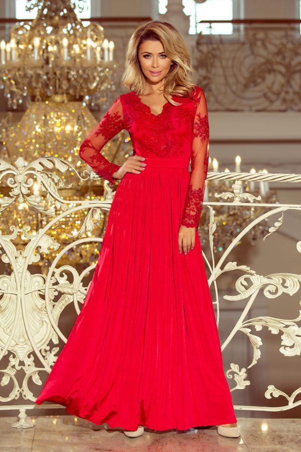Dámske šaty 213-3 - šaty na stužkovú - saty na stuzkovu - spoločenské šaty na stužkovú - šaty na stužkovú s dlhým rukávom - plesové šaty na stužkovú - princeznovské šaty na stužkovú - tylové šaty na stužkovú - dlhé šaty na stužkovú - maxi šaty na stužkovú