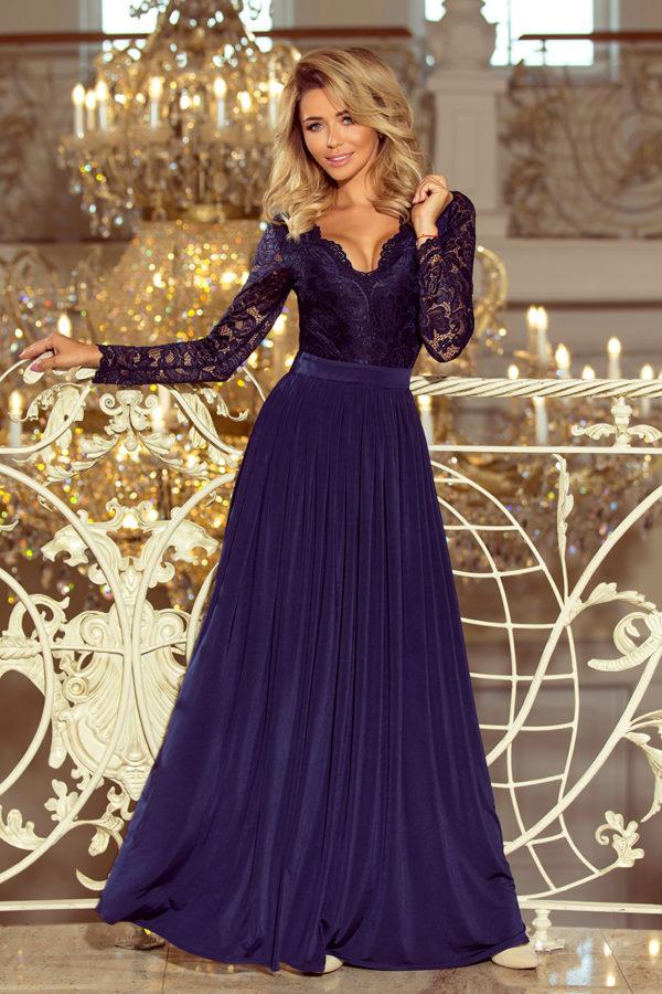 Dámske šaty 214-1 - šaty na stužkovú - saty na stuzkovu - spoločenské šaty na stužkovú - šaty na stužkovú s dlhým rukávom - plesové šaty na stužkovú - princeznovské šaty na stužkovú - tylové šaty na stužkovú - dlhé šaty na stužkovú - maxi šaty na stužkovú