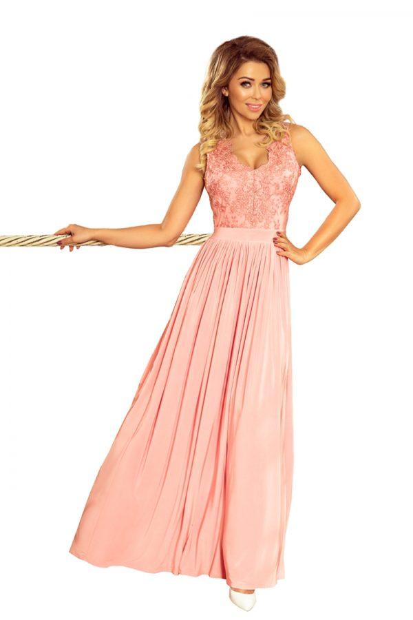Dámske šaty 215-4 - šaty na stužkovú - saty na stuzkovu - spoločenské šaty na stužkovú - šaty na stužkovú s dlhým rukávom - plesové šaty na stužkovú - princeznovské šaty na stužkovú - tylové šaty na stužkovú - dlhé šaty na stužkovú - maxi šaty na stužkovú