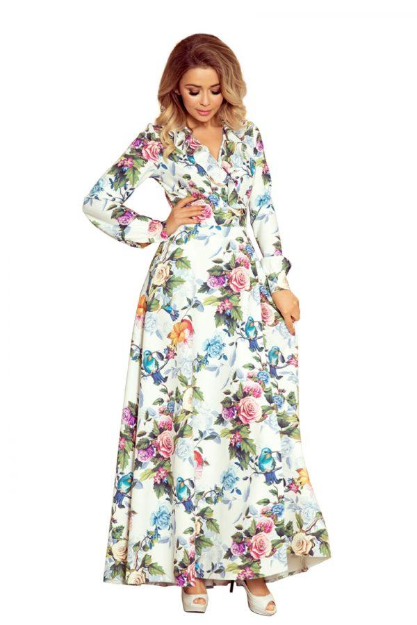 Dámske šaty 245-1 - šaty na stužkovú - saty na stuzkovu - spoločenské šaty na stužkovú - šaty na stužkovú s dlhým rukávom - plesové šaty na stužkovú - princeznovské šaty na stužkovú - tylové šaty na stužkovú - dlhé šaty na stužkovú - maxi šaty na stužkovú