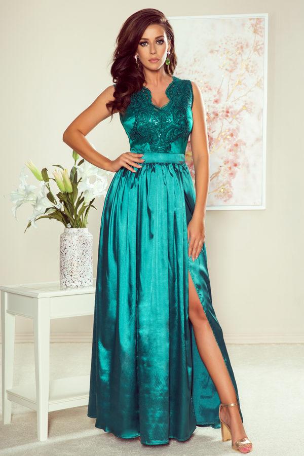 Dámske šaty 256-1 - šaty na stužkovú - saty na stuzkovu - spoločenské šaty na stužkovú - šaty na stužkovú s dlhým rukávom - plesové šaty na stužkovú - princeznovské šaty na stužkovú - tylové šaty na stužkovú - dlhé šaty na stužkovú - maxi šaty na stužkovú